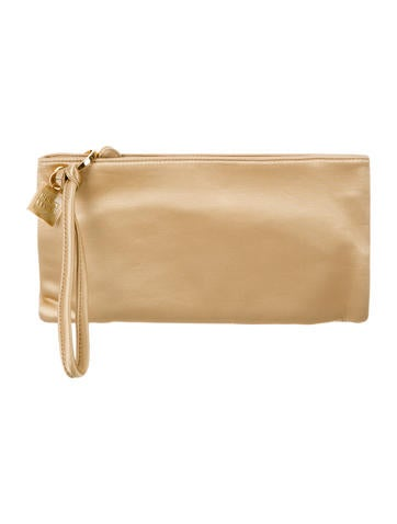 Herve Leger Satin Wristlet None