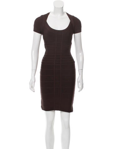 Herve Leger Bailey Bandage Dress None