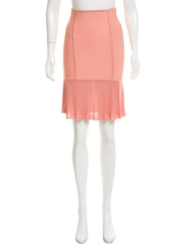 Herve Leger Knit Knee-Length Skirt None