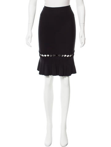 Herve Leger Knee Length Pencil Skirt w/ Tags None