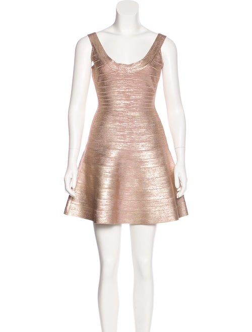 71fcab104a1b Herve Leger Metallic Eva Dress w/ Tags - Clothing - HEV32490 | The ...