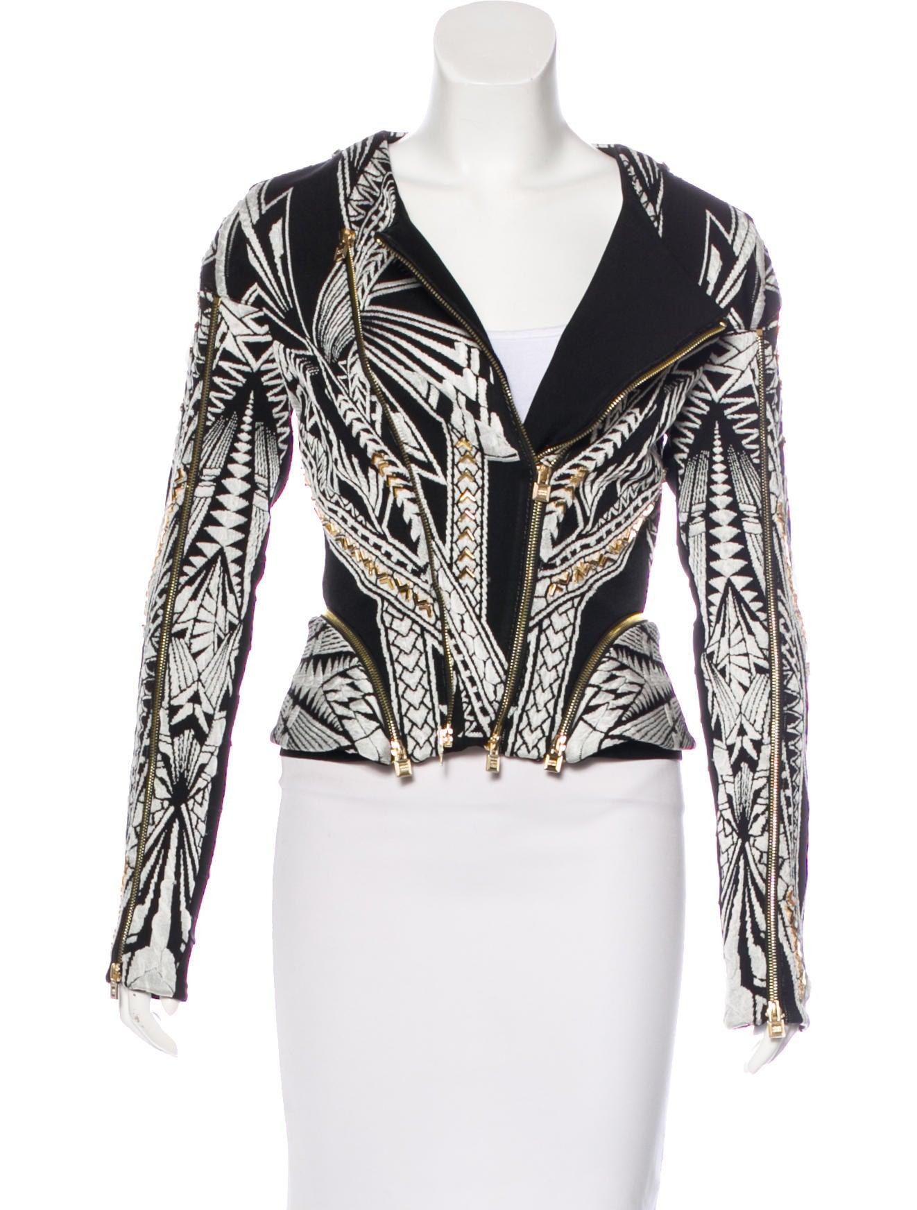 4eb129588f99 Herve Leger Sabah Tattoo Jacquard Jacket - Clothing - HEV32505