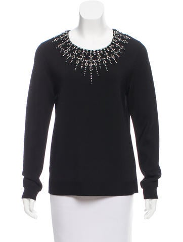 Herve Leger Embellished Knit Sweater w/ Tags None