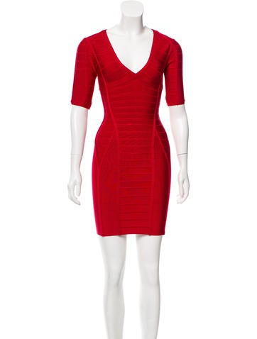 Herve Leger Andrea Bandage Dress None