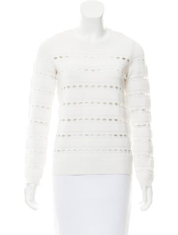 Herve Leger Cutout Accented Knit Top None