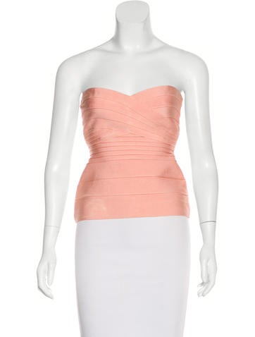 Herve Leger Strapless Bandage Top None