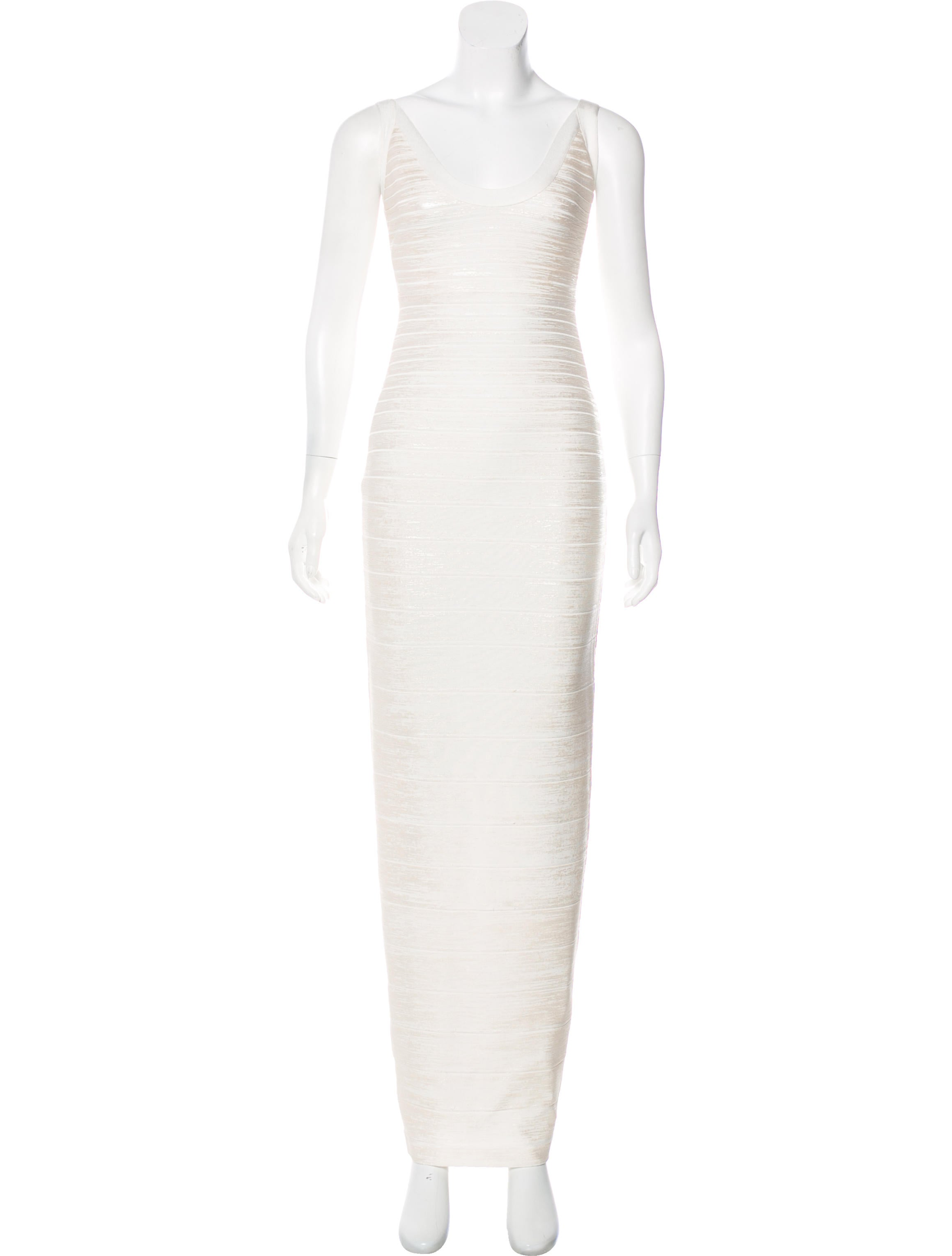 Herve Leger Shawna Foil Bandage Gown - Clothing - HEV35180 | The ...