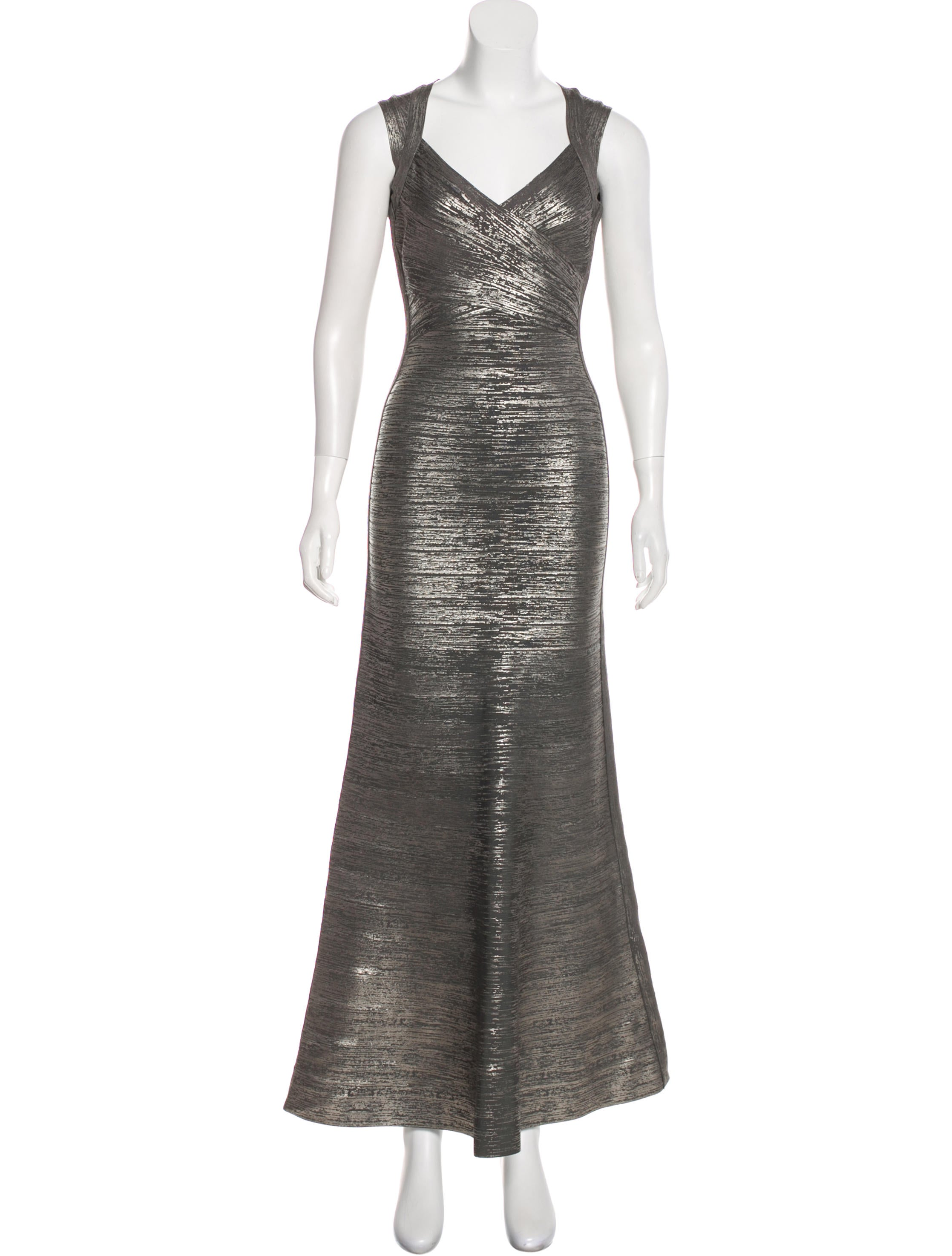 Herve Leger Camilla Bandage Gown - Clothing - HEV35608 | The RealReal