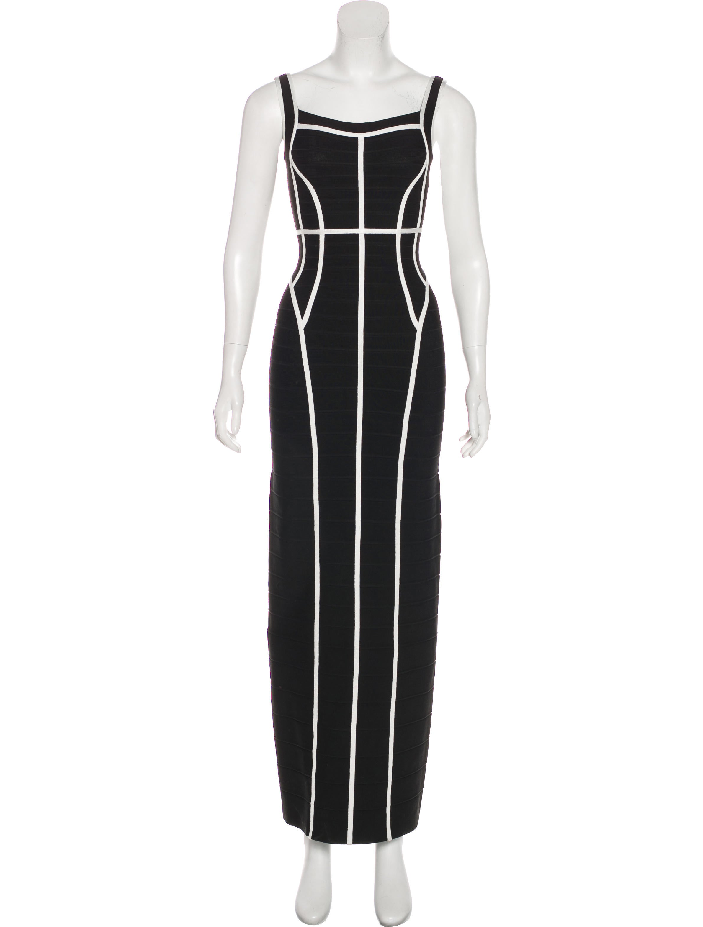 Herve Leger Helena Bandage Gown - Clothing - HEV35978 | The RealReal