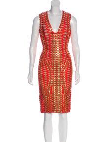 5b2cabfac4cac Herve Leger. Sage Embellished Dress