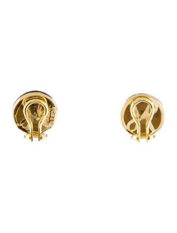 18K Enamel & Diamond X Earrings