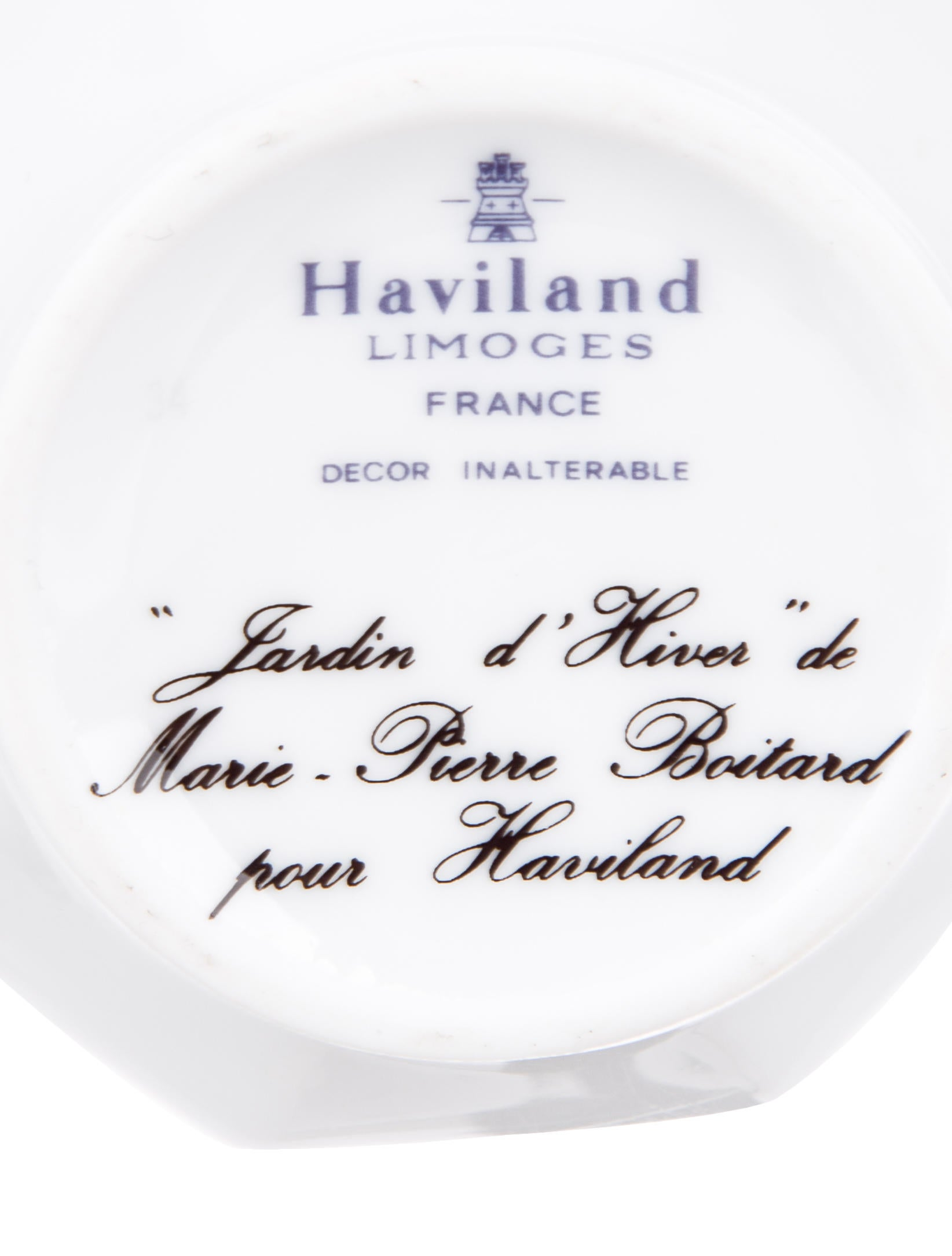 Haviland jardin d 39 hiver cream sugar tabletop and for Jardin d hiver