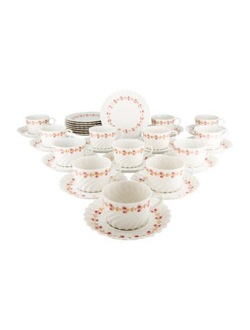 Haviland 34-Piece Plaisance Tea Service None