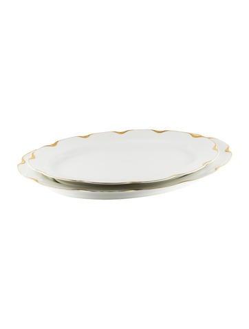 Haviland Porcelain Serving Tray Set None
