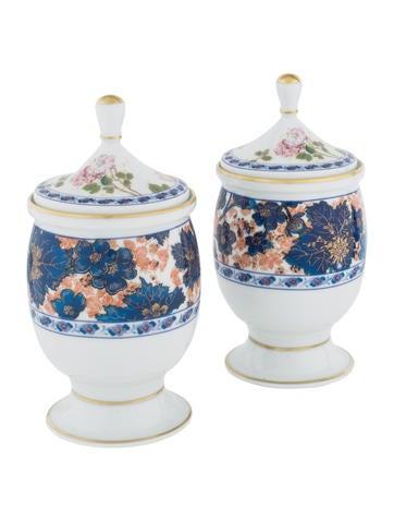 Haviland Floral Porcelain Jar Set None