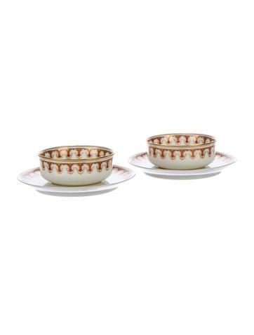 Haviland Porcelain Saucer & Bowl Set None