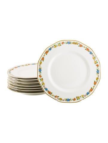 Haviland Set of 8 Rosemary Dinner Plates None
