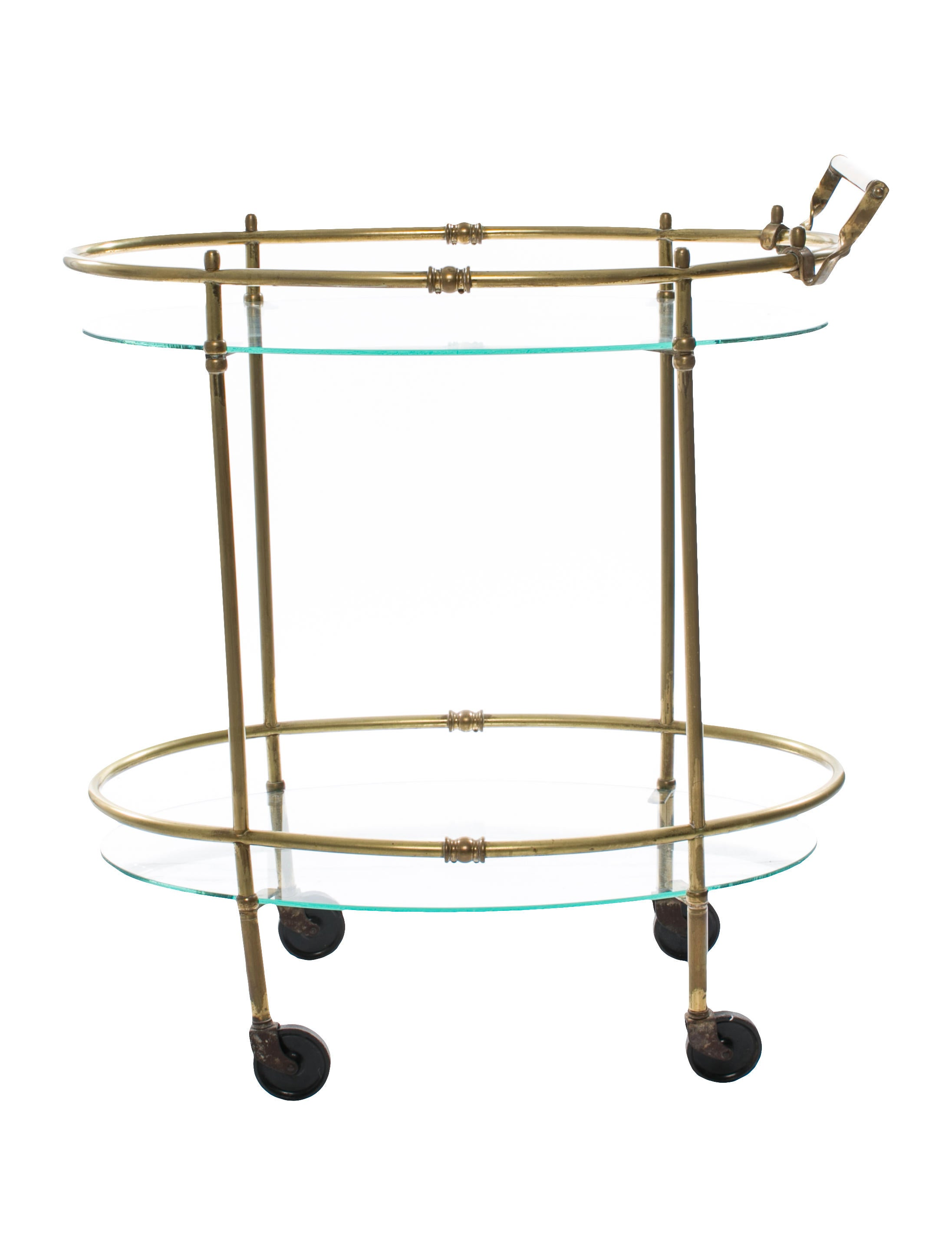 Vintage Bronze And Glass Bar Cart Furniture Hme20196