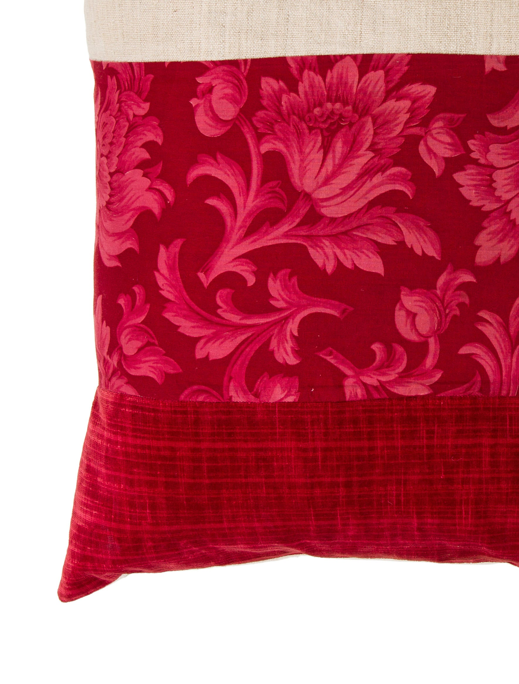 Throw Pillows Velvet : Velvet-Paneled Throw Pillow - Bedding And Bath - HME21207 The RealReal