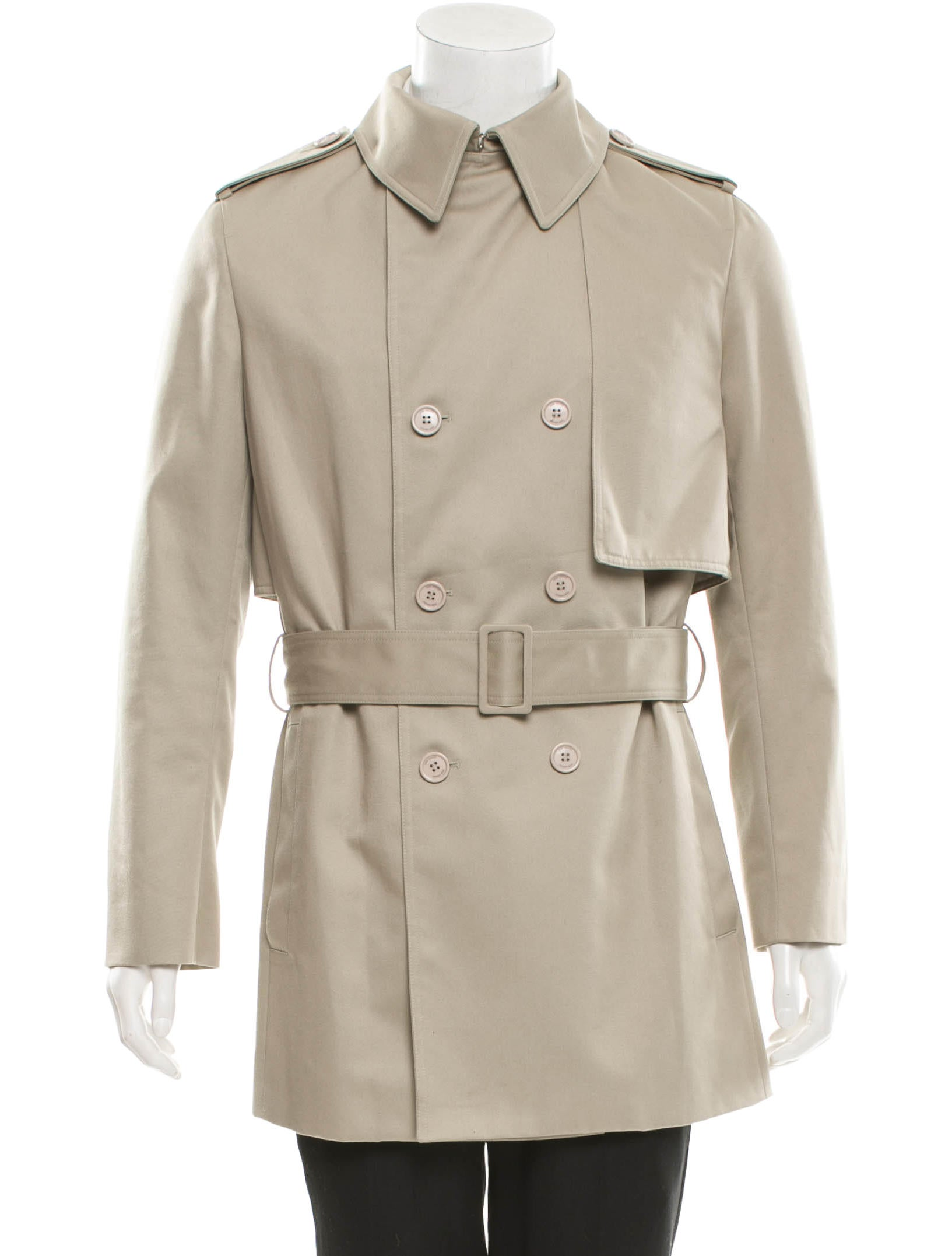 dior homme belted trench coat clothing hmm21202 the realreal. Black Bedroom Furniture Sets. Home Design Ideas