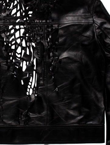 Laser Cut Leather Jacket