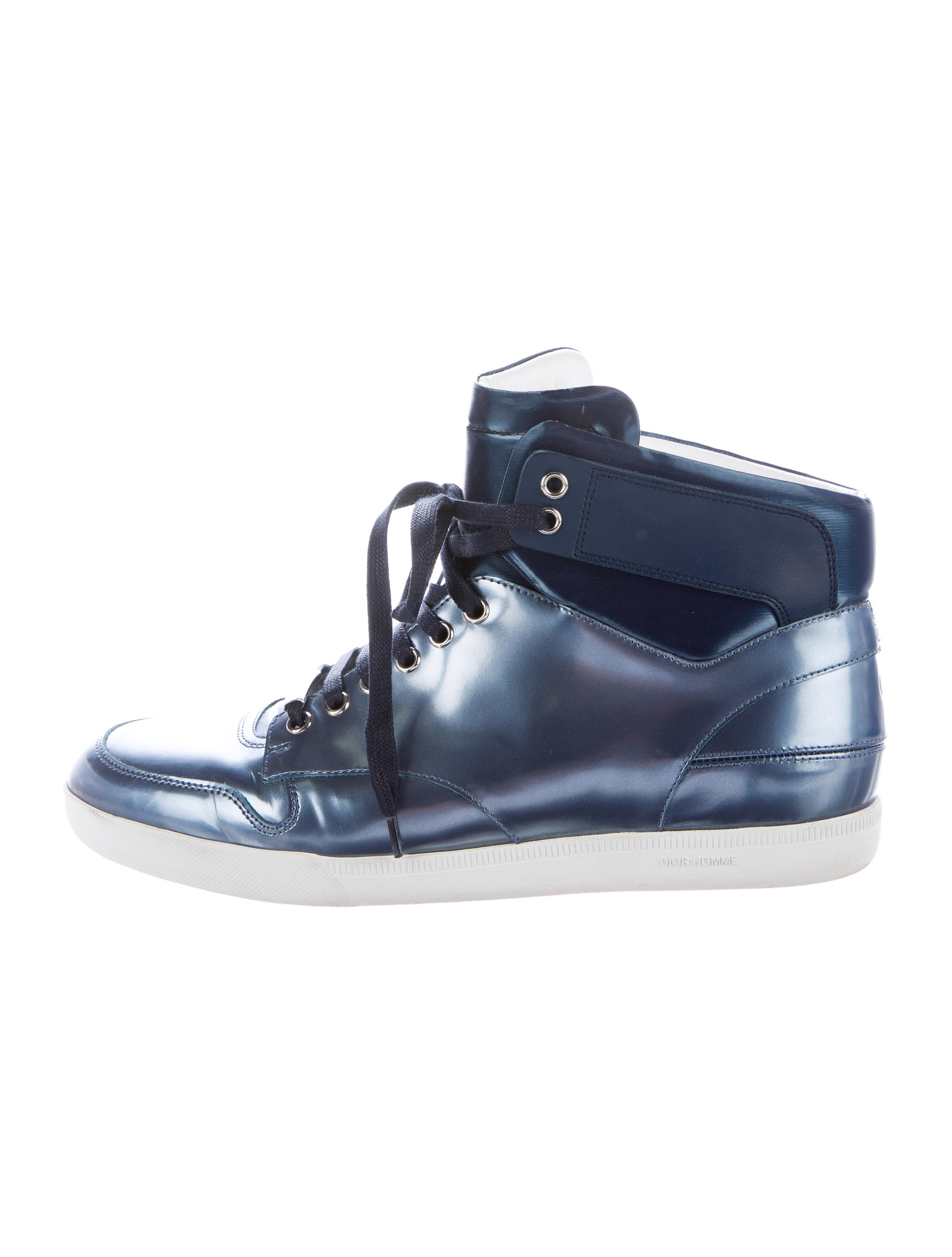 Dior Homme Metallic High-Top Sneakers - 343.1KB