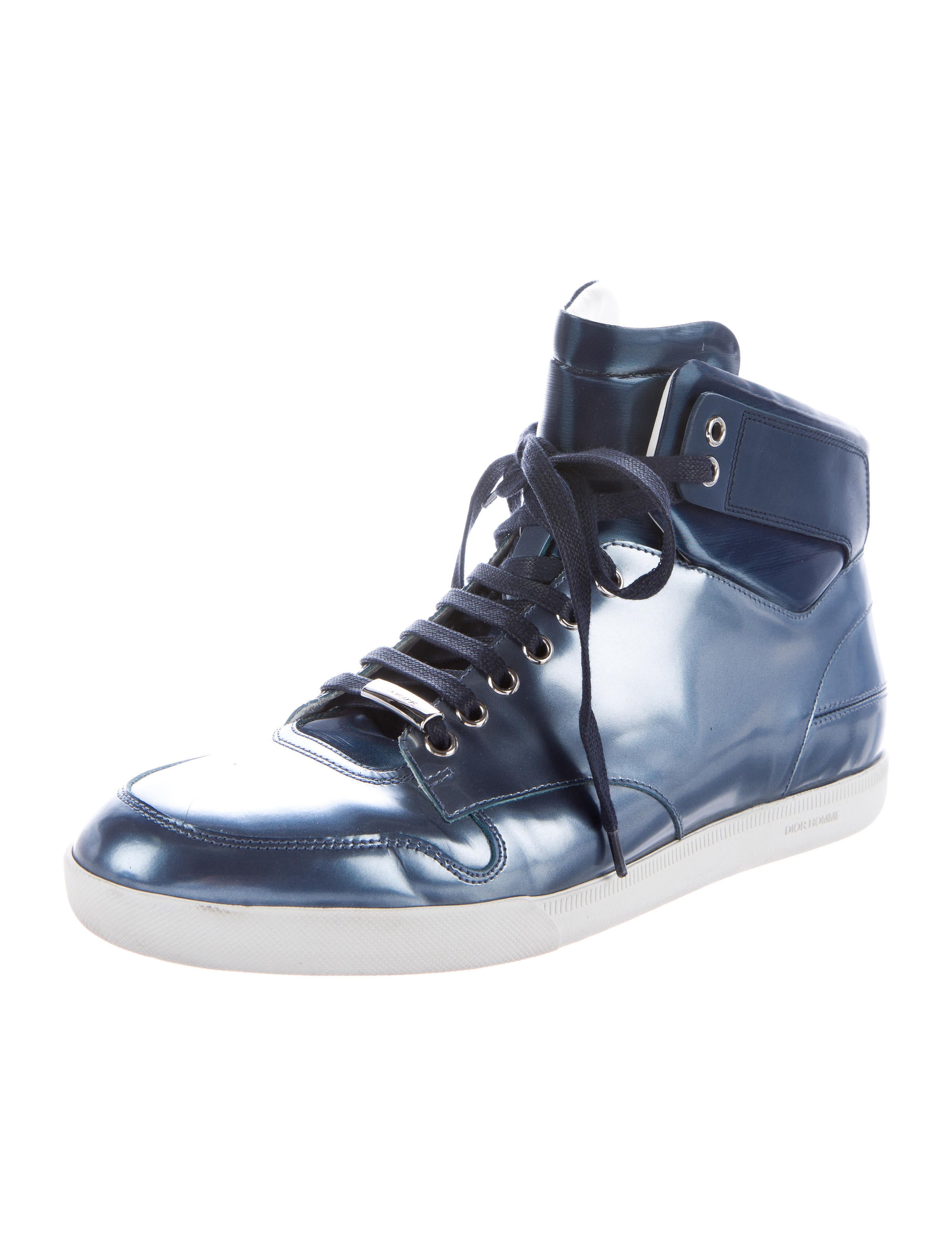 Dior Homme Metallic High-Top Sneakers - 369.8KB