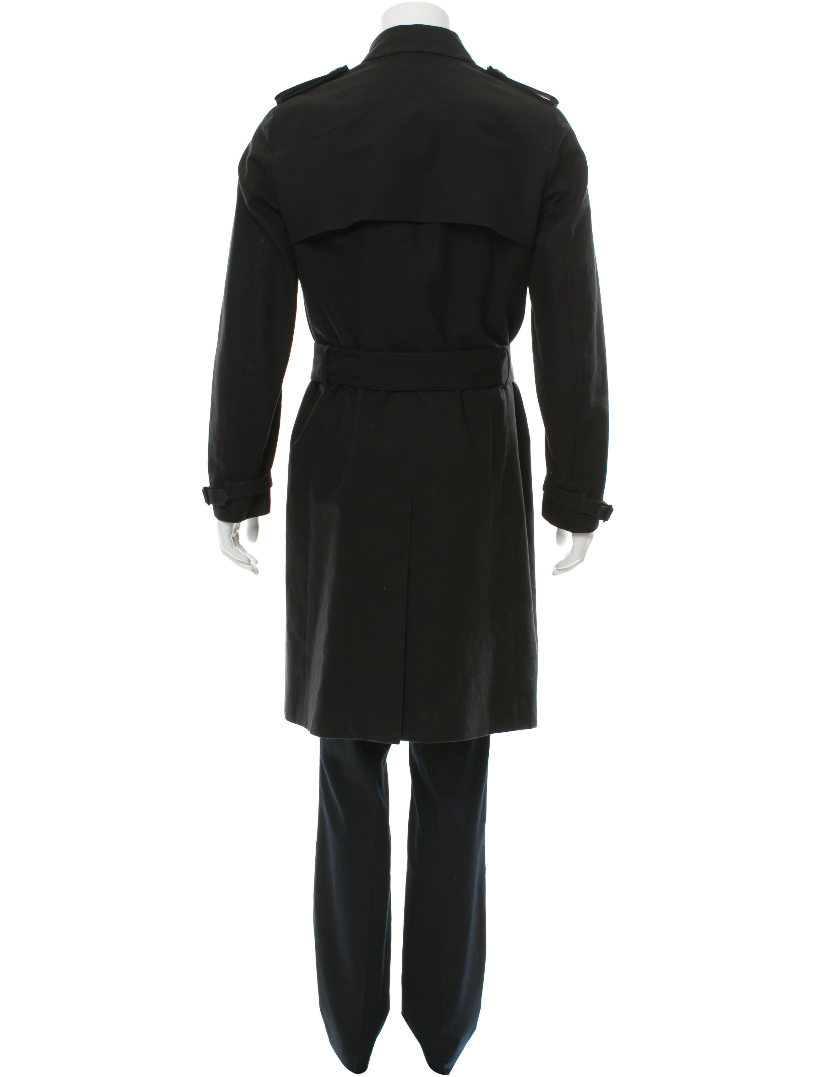 dior homme double breasted trench coat clothing hmm22114 the realreal. Black Bedroom Furniture Sets. Home Design Ideas