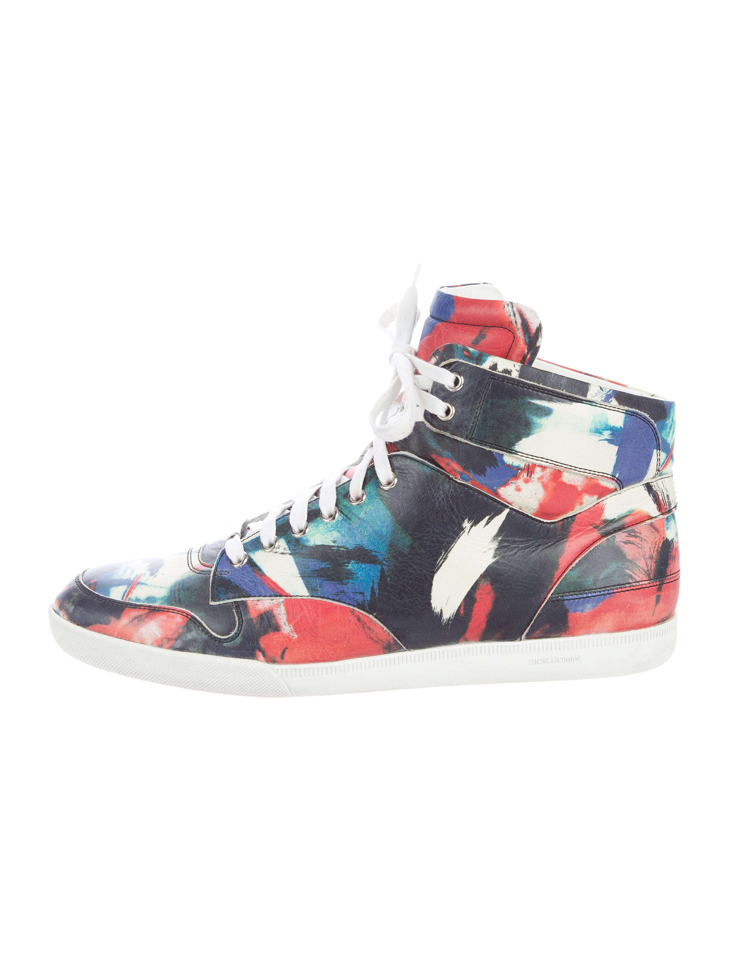 Dior Homme Leather High-Top Sneakers - 399.1KB