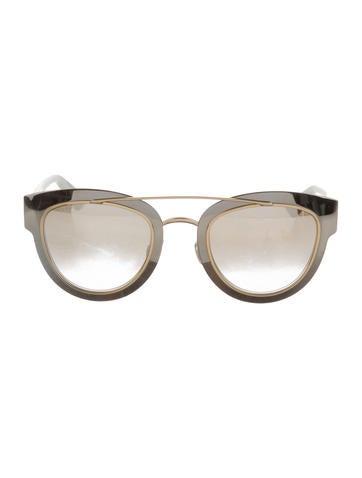 bf717ba3f0 Dior White Aviator Sunglasses