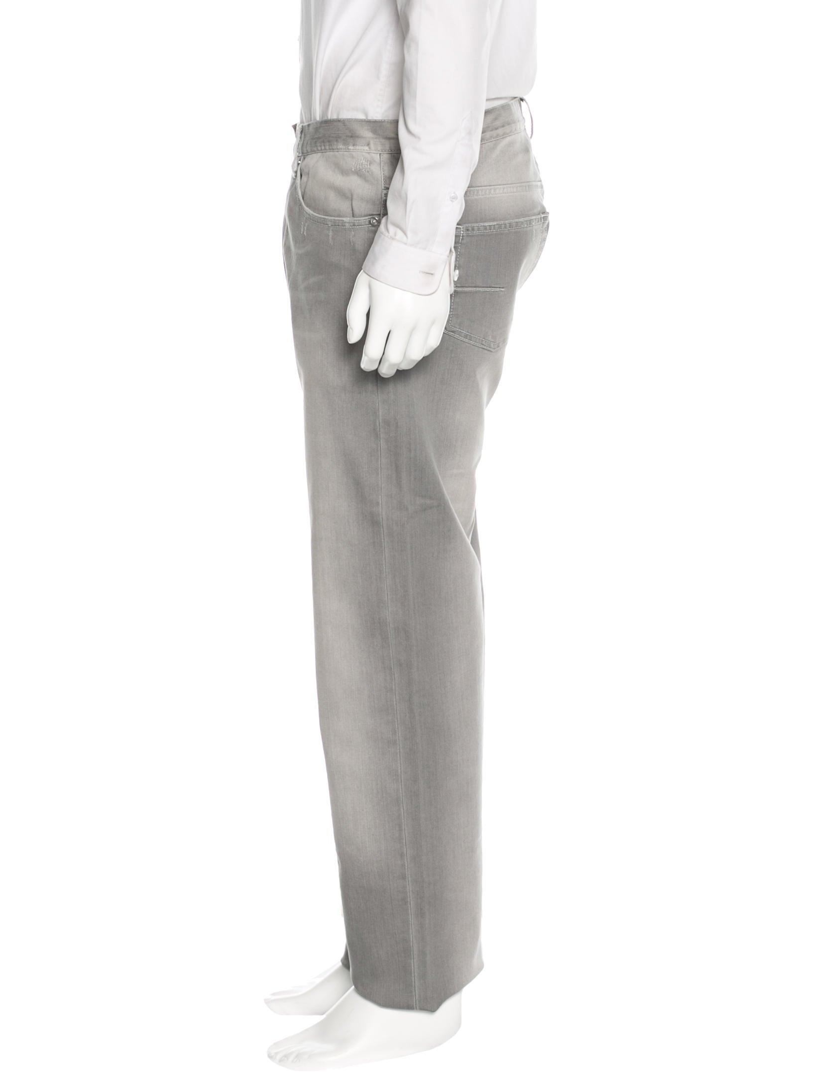 dior homme distressed straight leg jeans clothing. Black Bedroom Furniture Sets. Home Design Ideas