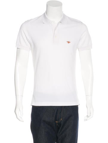 Dior Homme Embroidered Pique Polo None