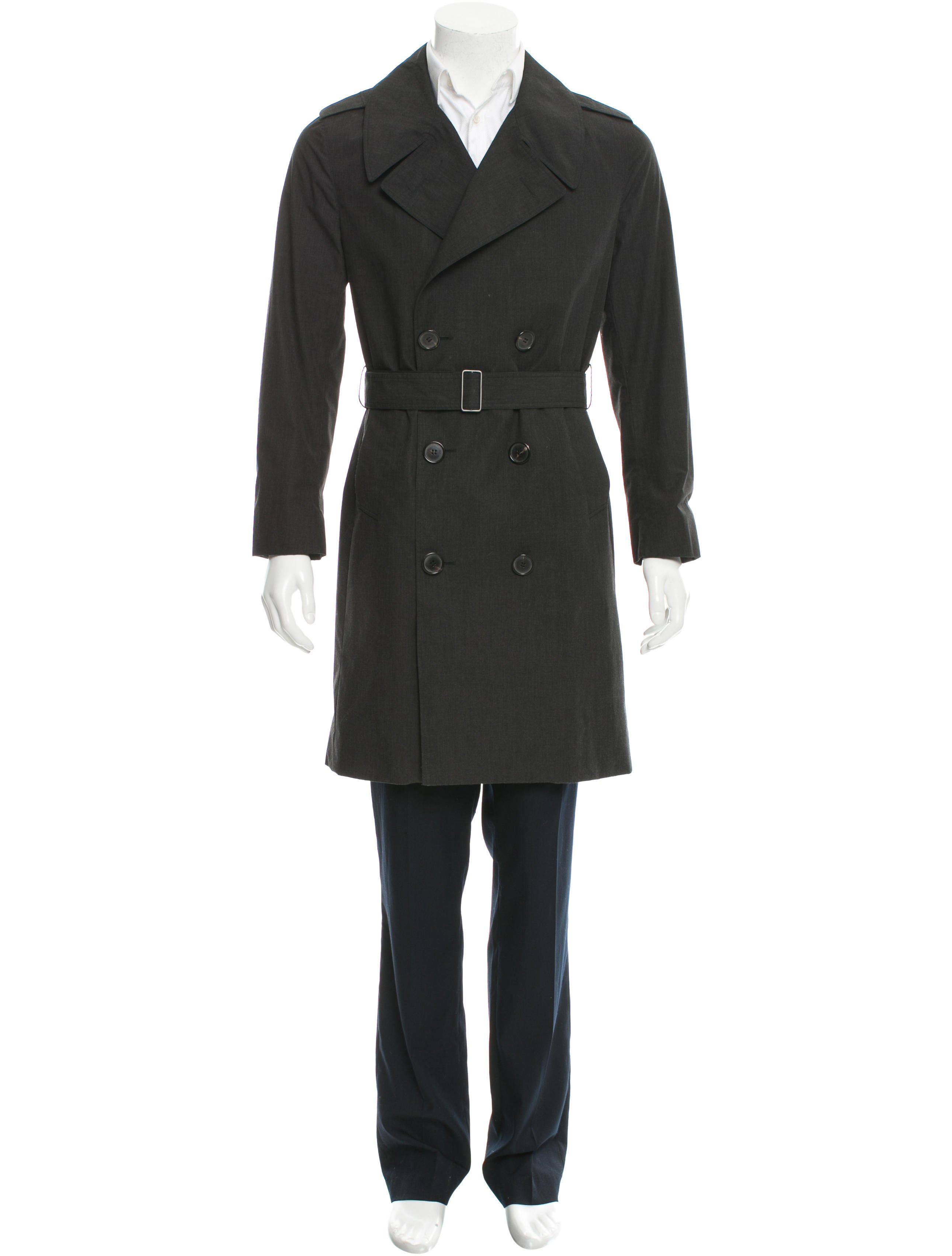 dior homme double breasted belted trench coat clothing. Black Bedroom Furniture Sets. Home Design Ideas