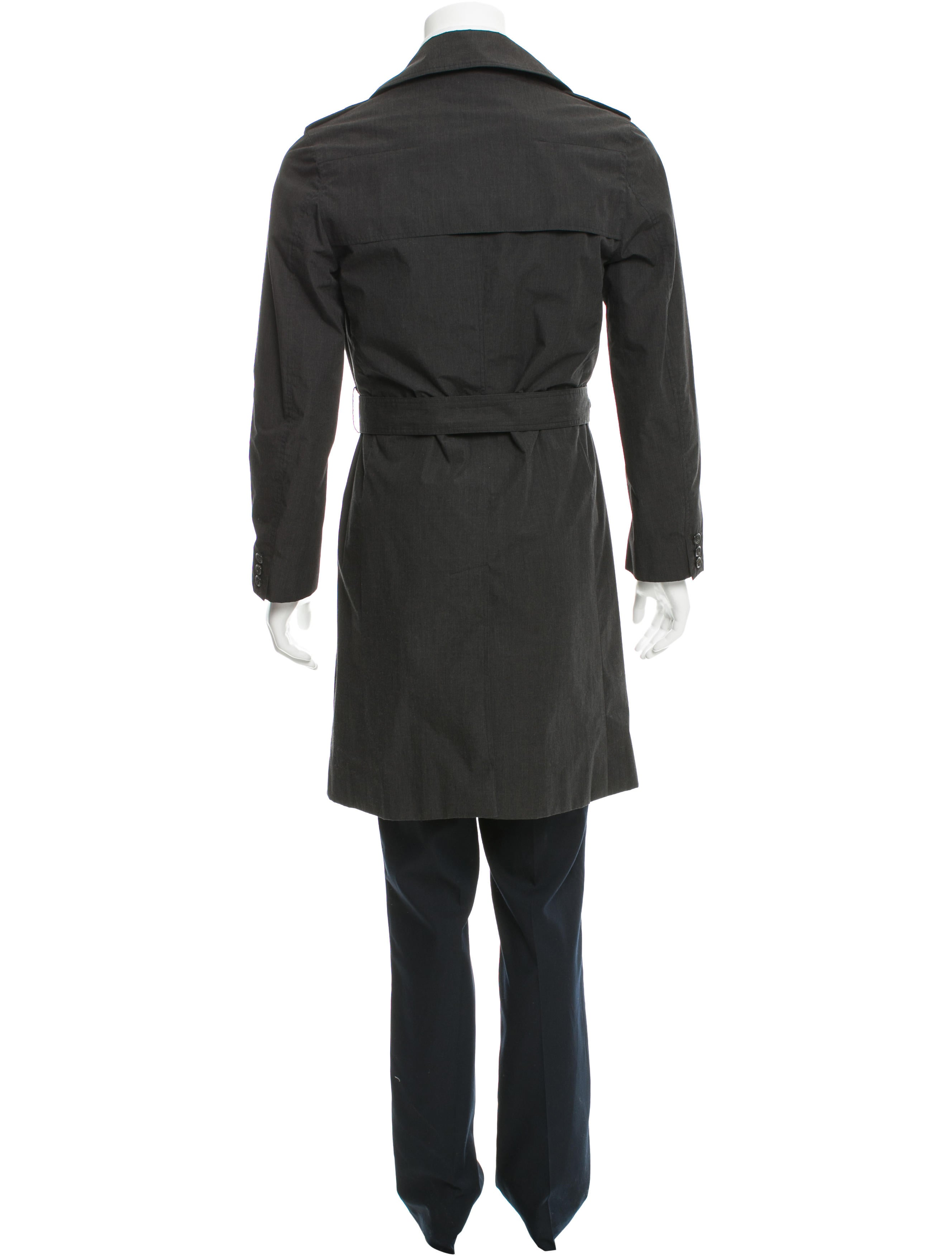 dior homme double breasted belted trench coat clothing hmm22802 the realreal. Black Bedroom Furniture Sets. Home Design Ideas