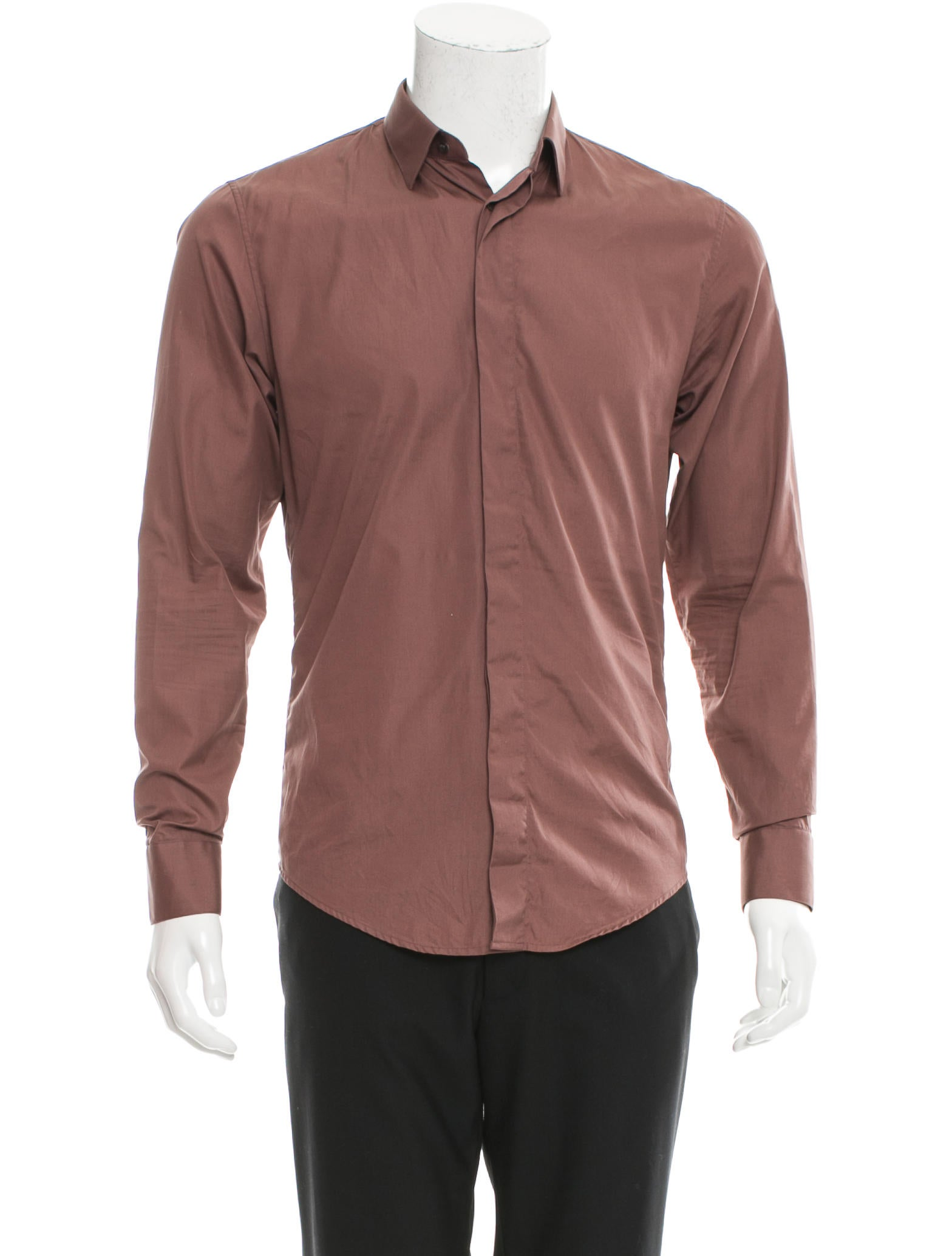 Dior homme long sleeve button up shirt clothing for Long sweaters and shirts
