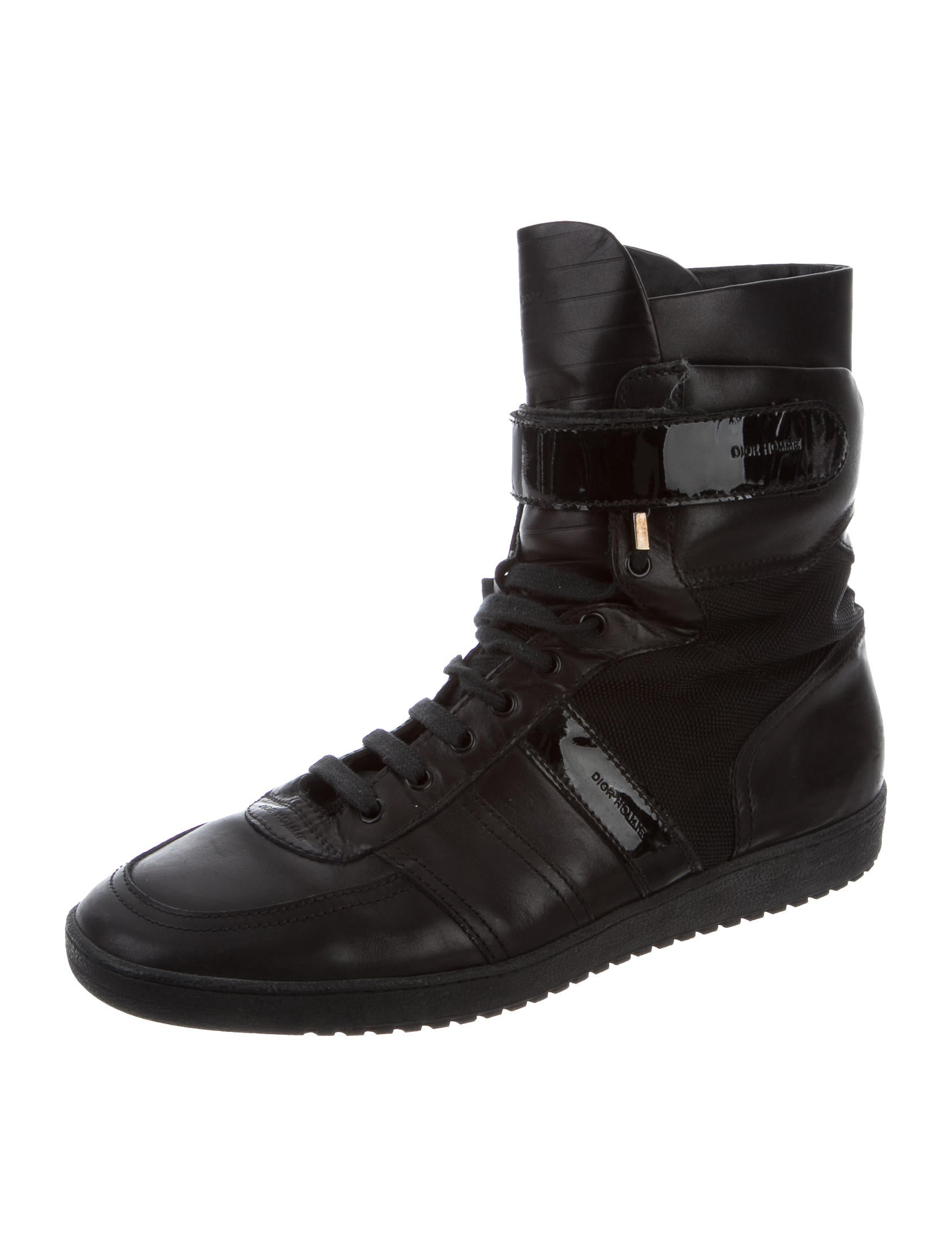 Dior Homme Leather High-Top Sneakers - 136.4KB