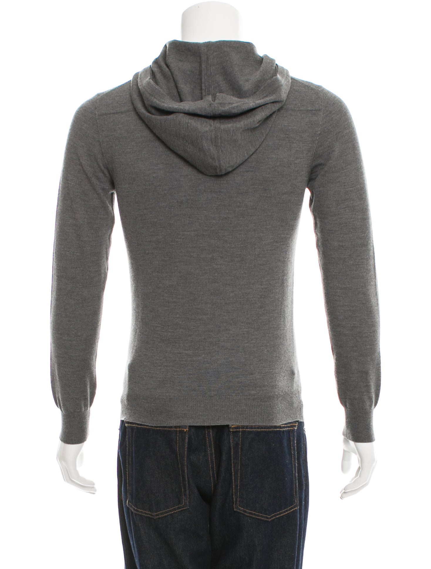 dior homme hooded wool sweatshirt clothing hmm22868 the realreal. Black Bedroom Furniture Sets. Home Design Ideas