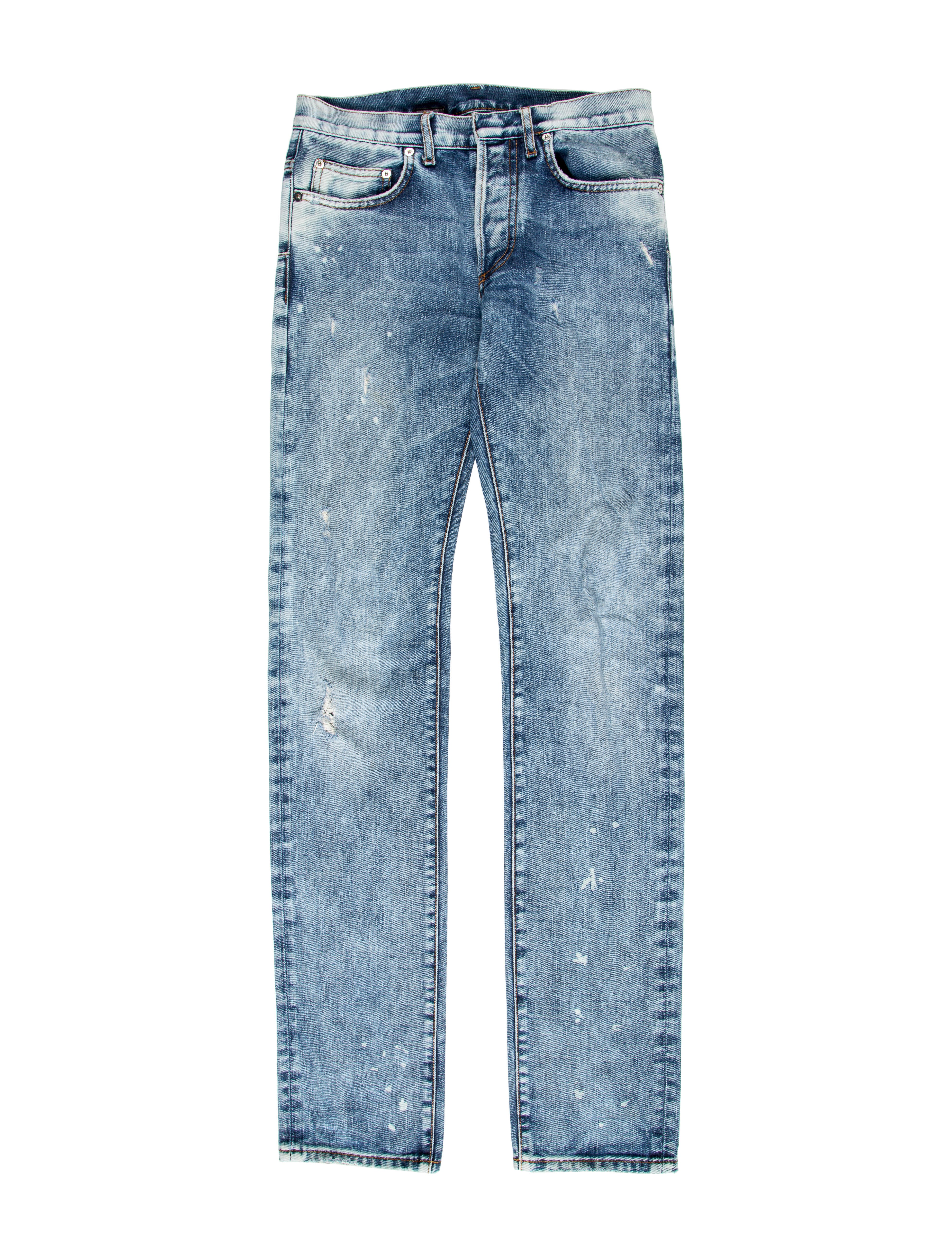 dior homme distressed skinny jeans clothing hmm22884 the realreal. Black Bedroom Furniture Sets. Home Design Ideas