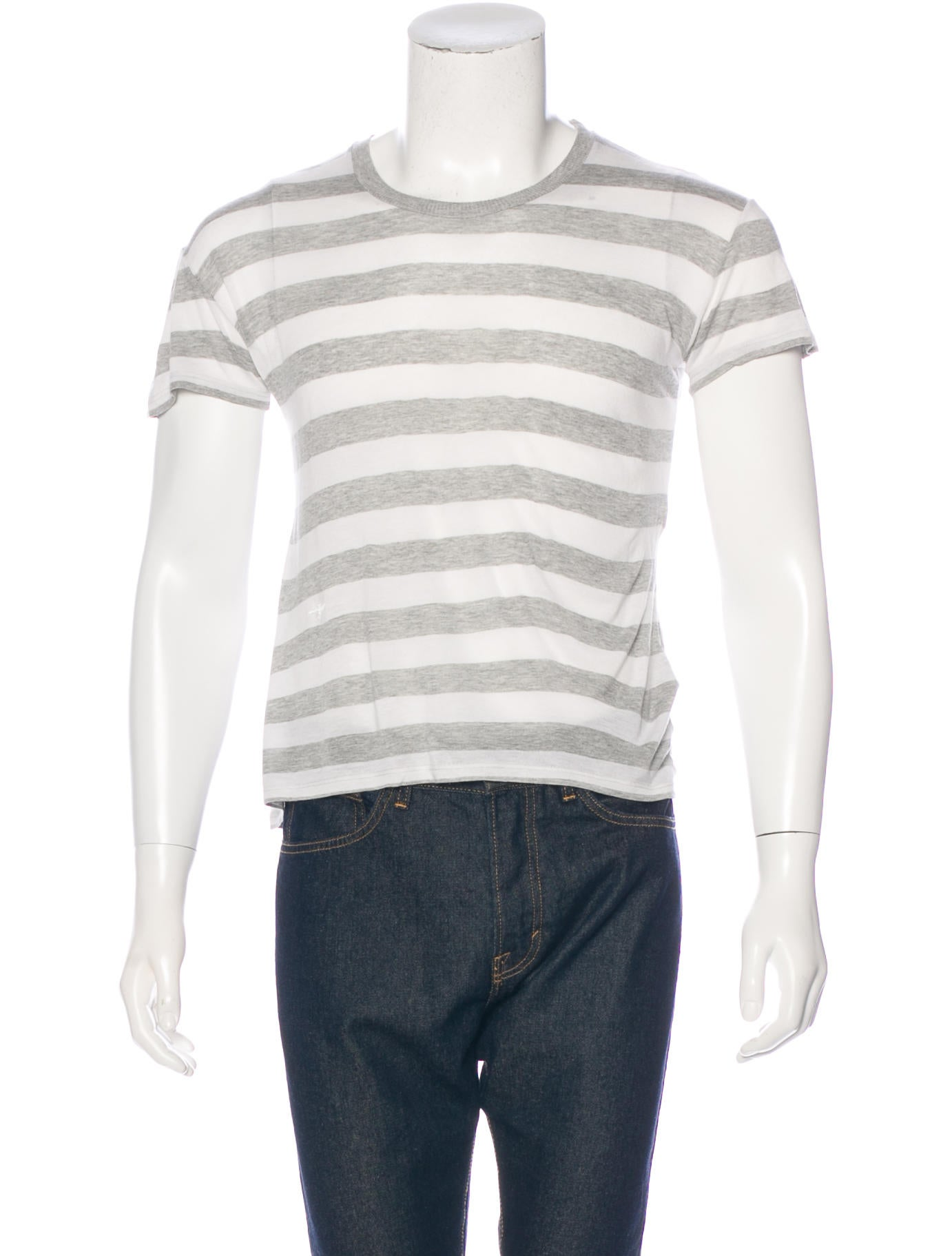 Dior homme bee embroidered striped t shirt clothing