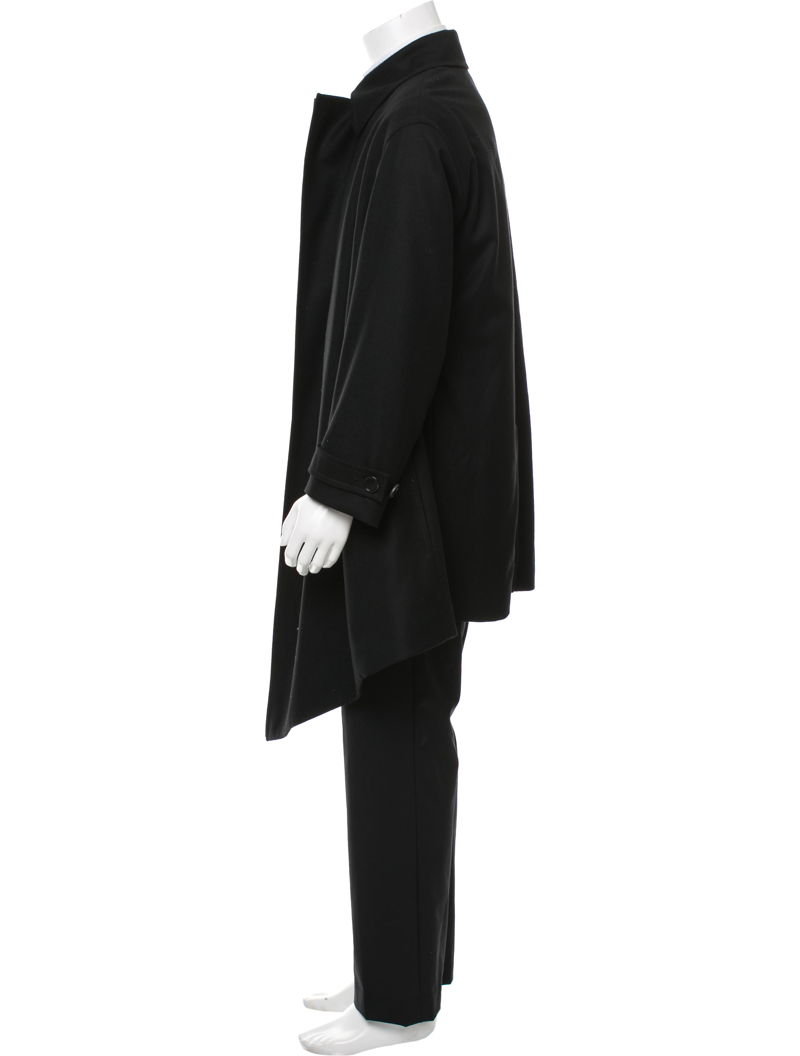 dior homme open front wool trench coat clothing hmm22971 the realreal. Black Bedroom Furniture Sets. Home Design Ideas