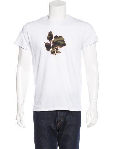 dior homme camouflage floral print t shirt clothing. Black Bedroom Furniture Sets. Home Design Ideas