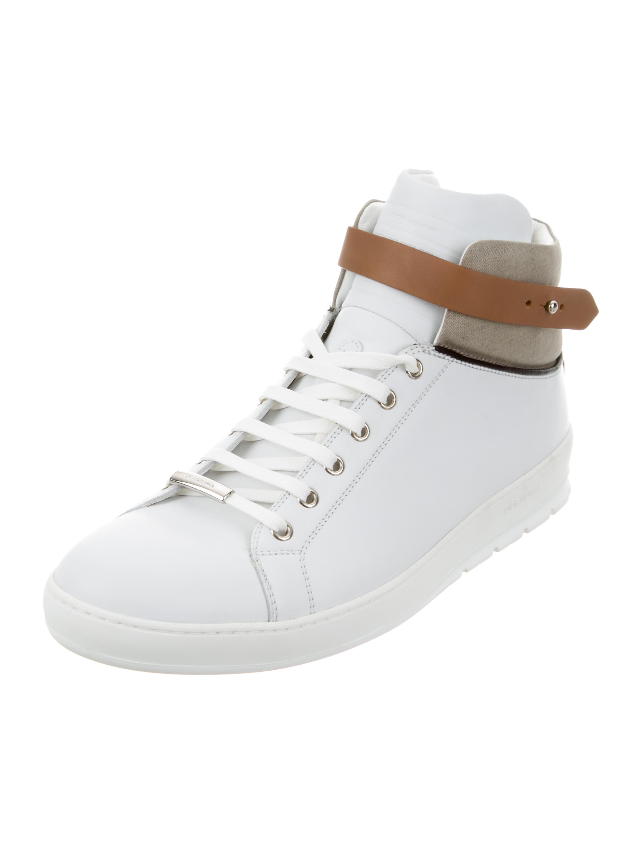 Dior Homme Leather High-Top Sneakers - 123.4KB