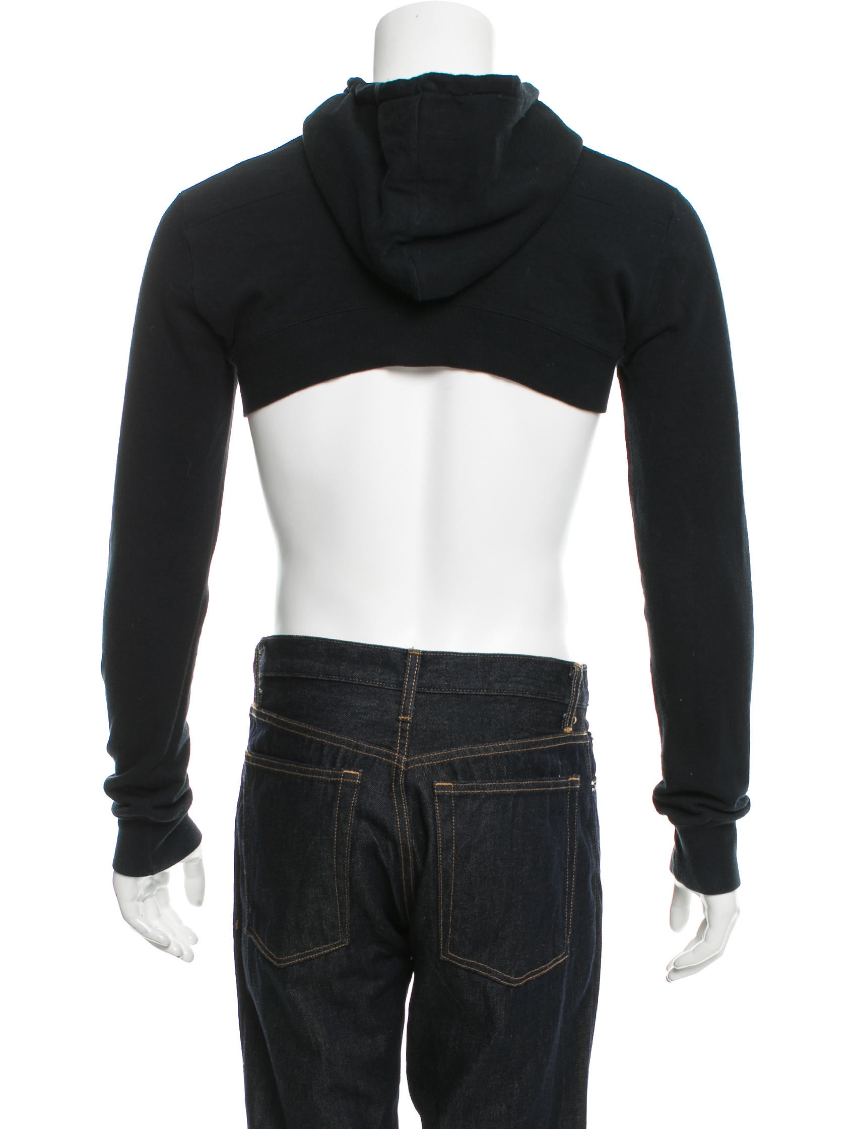 dior homme cropped drawstring hoodie clothing hmm23010 the realreal. Black Bedroom Furniture Sets. Home Design Ideas