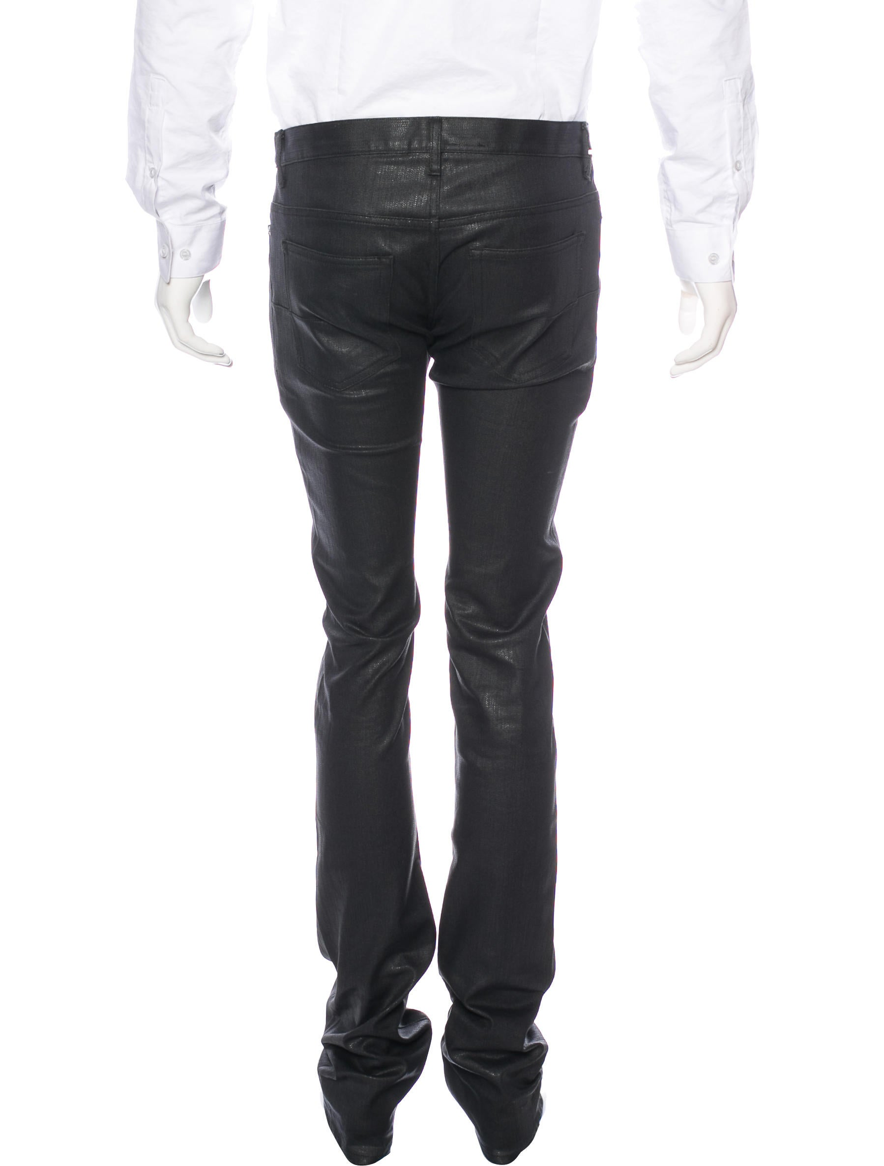dior homme wax coated slim jeans clothing hmm23074 the realreal. Black Bedroom Furniture Sets. Home Design Ideas