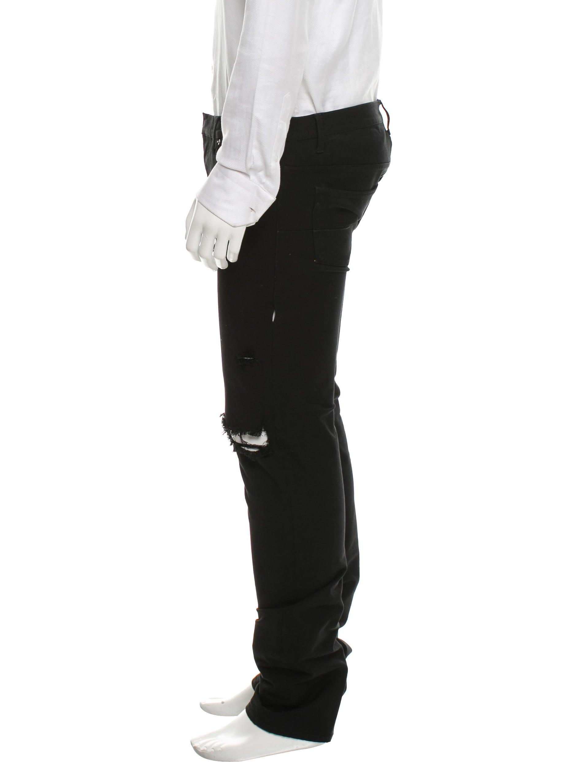 dior homme distressed skinny jeans clothing hmm23128. Black Bedroom Furniture Sets. Home Design Ideas