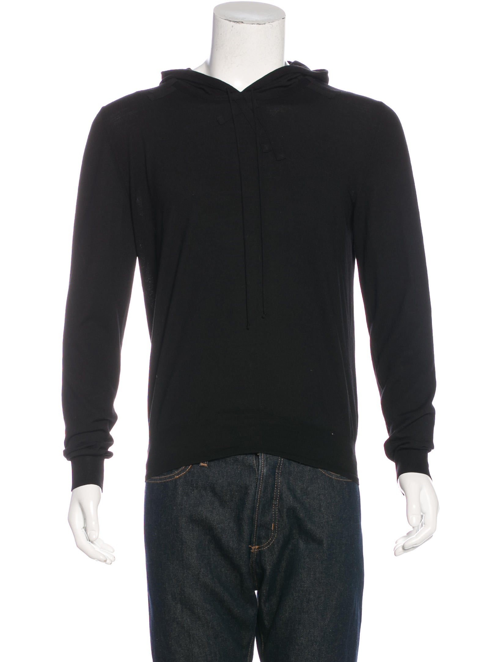 dior homme wool drawstring hoodie clothing hmm23203 the realreal. Black Bedroom Furniture Sets. Home Design Ideas