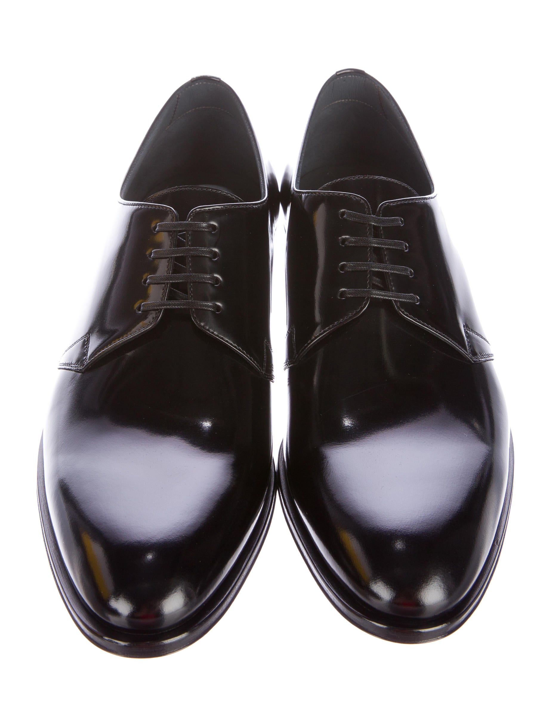 Dior Homme Black Leather Derby Shoes