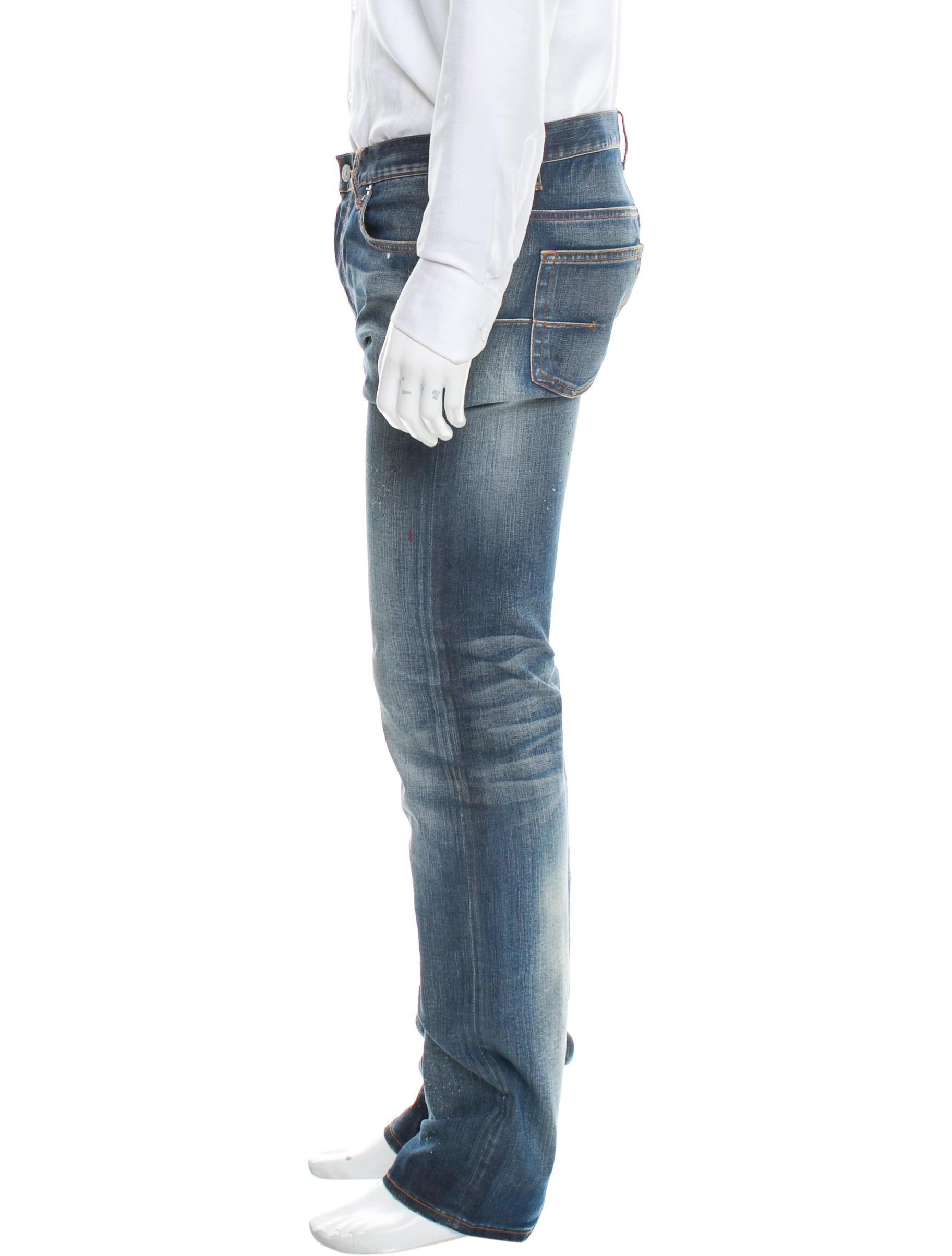 dior homme paint splatter slim fit jeans clothing. Black Bedroom Furniture Sets. Home Design Ideas