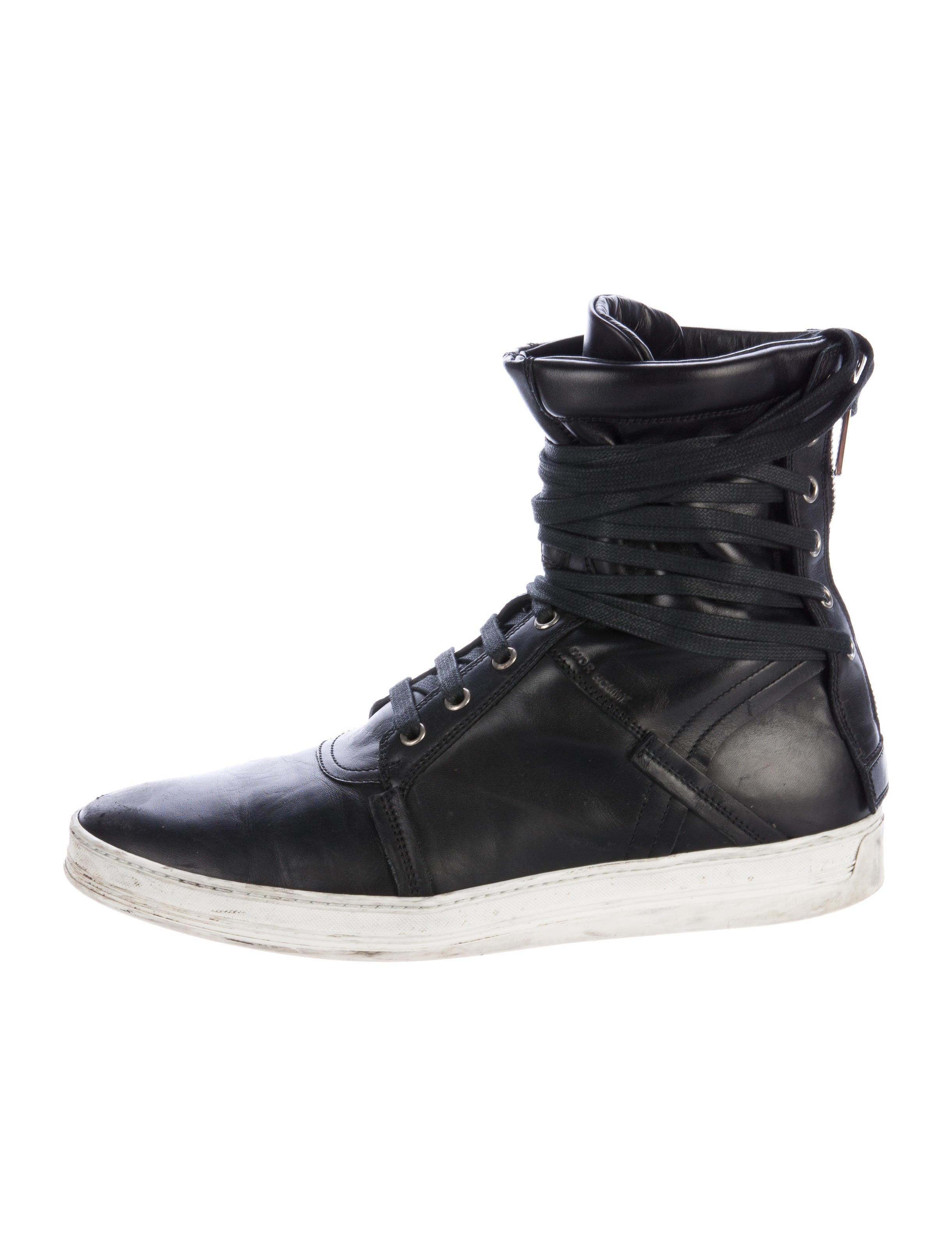 Dior Homme Leather High-Top Sneakers - 293.4KB