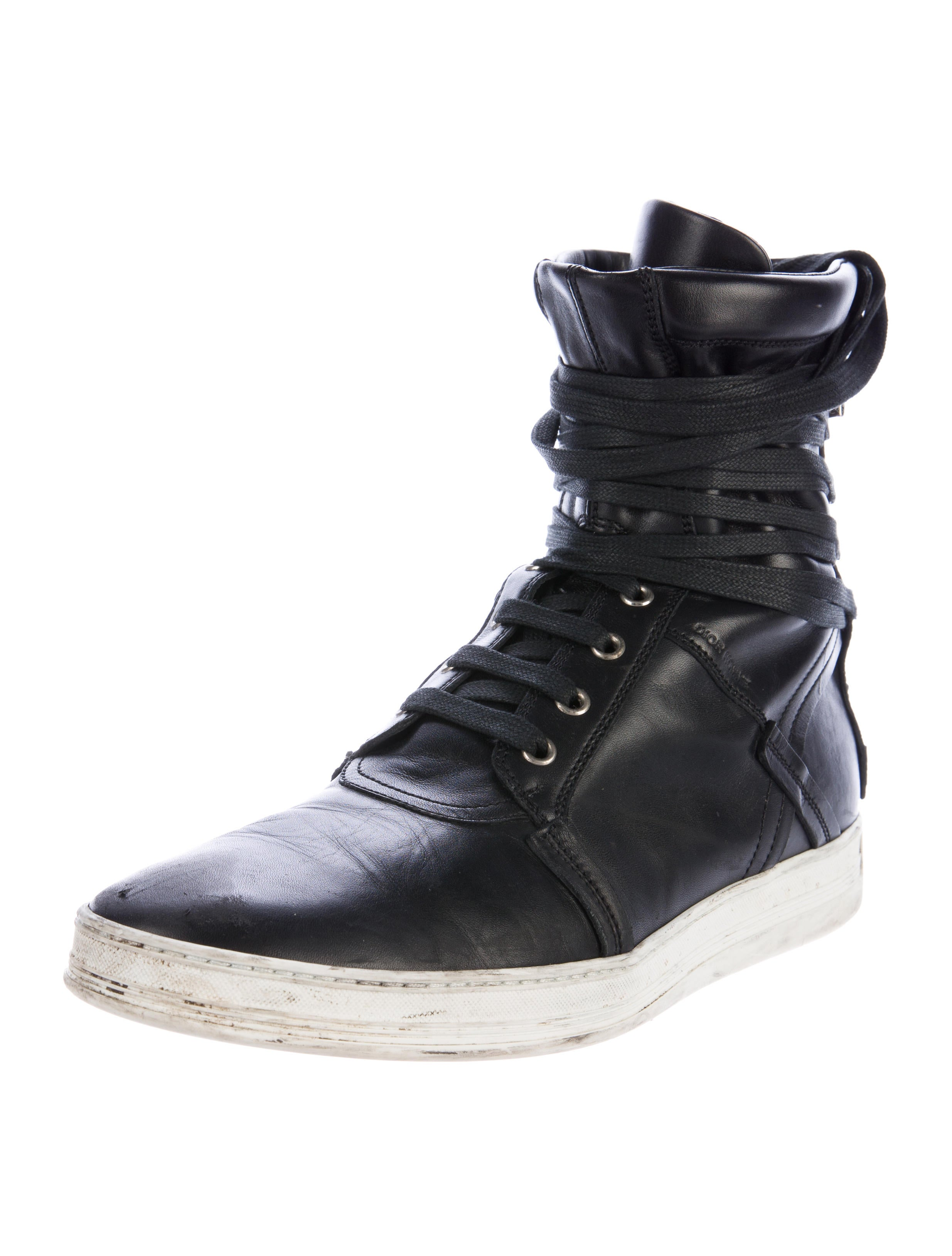 Dior Homme Leather High-Top Sneakers - 413.5KB
